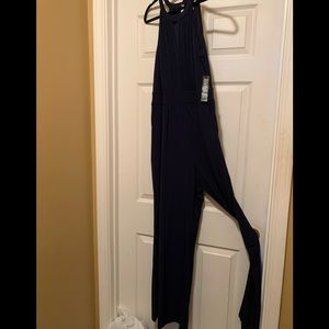 New with tags New York & co Navy jumpsuit